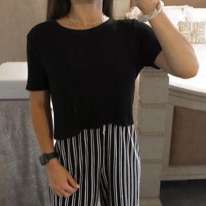 Brandy Melville Tops - Black Ribbed Cropped Basic Top | Brandy Melville